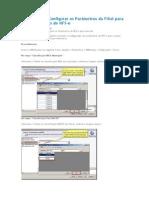 Como Fazer - Configurar os Parâmetros da Filial para correta emissão de NFS-e.docx
