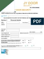 jy door security real application