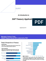 SAP Introduction to Treasury Applications