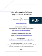 Life -A Preparation for Death by Edward Maggador Alexander