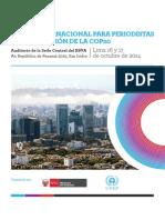 Taller Internacional para periodistas en preparación de la COP20