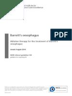 Barrett's Oesophagus