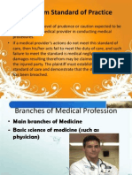 Branches of Medical Profession Ppt