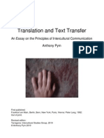 Translation and Text Transfer. An Essay on the Principles of Intercultural Communication