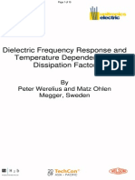Dielectric Frequency Response and Temperature Dependence of Dissipation Factor_090220