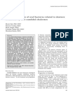 Inhibition of Oral Bacteria Related to Denture Stomatitis by Anticandidal Chalcones.