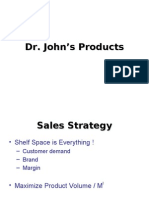 Entrepreneurship Business Plan [Dr. John Product]