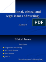 Professional, ethical and legal issues of nursing MN.ppt
