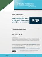 Perez - Empleabilidad, motivación por trabajar y politicas de empleo para jovenes.pdf