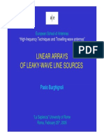 LINEAR ARRAYS OF LEAKY-WAVE LINE SOURCES