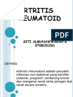 Definisi, Etiologi, Patologi Artritis Reumatoid (Semester 2 Blok 6 Pleno 3_Putri 030290)