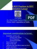 POWERGRID Practices in EHV Substation Layout - Kksarkar