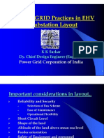 POWERGRID Practices in EHV Substation Layout - Kksarkar