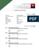 Curriculum Vitae ABD RAHMAN