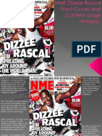 NME Dizzee Rascal Front Cover Analysis
