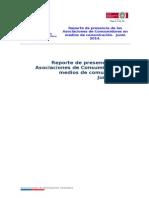 Presencia de Asociaciones de Consumidores en medios nacionales. Junio 2014