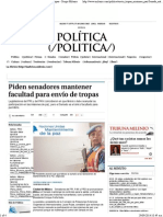 25-09-14 Piden senadores mantener facultad para envío de tropas.pdf