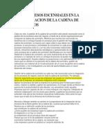 Los 8 Procesos Escensiales en La Administracion de La Cadena de Suministros