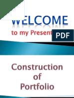 construction of a portfolio