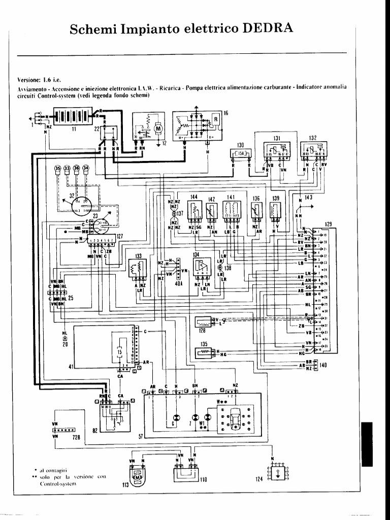 schemi elettrici lancia dedra
