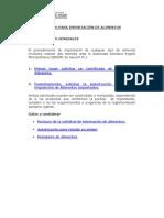 PROCEDIMIENTO PARA IMPORTACIÓN DE ALIMENTOS.pdf