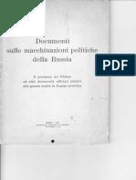 Documenti sulle macchinazioni politiche della Russia 1941