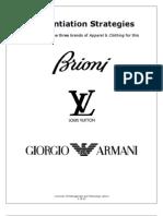 Differentiation Strategies of Brioni, Louis Vuitton, And Giorgio Armani