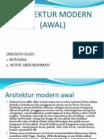 Arsitektur Modern (Awal)