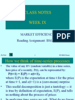 Market Efficiency Finance Week 09