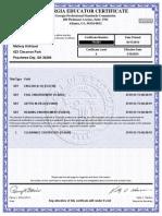 Kirkland Teaching Certificate