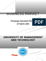 Business Markets (Principles Of Marketing)