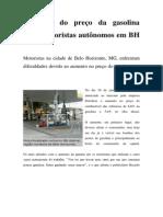 Aumento do preço da gasolina afeta motoristas autônomos em BH.docx