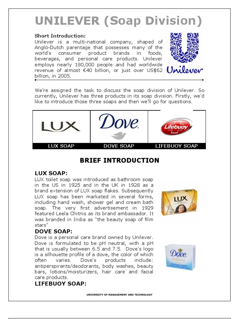 unilever lux soap