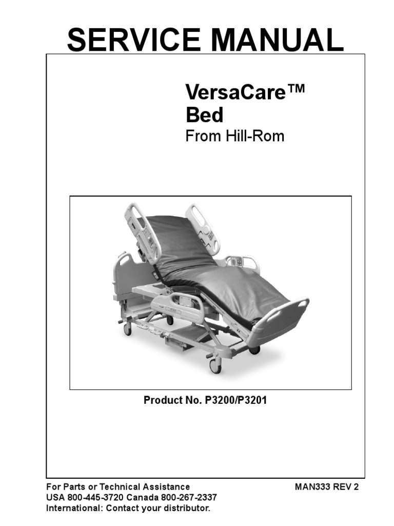 Hill-rom total care bariatric bed service manual.