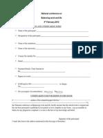 National Confregistration Form for Blw