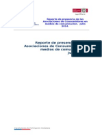 Presencia de Asociaciones de Consumidores en medios nacionales. Julio 2014