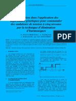 Contribution dans l'application des algorithmes génétiques pour commander des onduleurs de tension à cinq niveaux par la technique d'élimination d'harmoniques