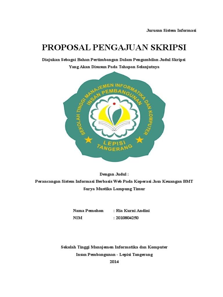 Contoh Proposal Skripsi Koperasi