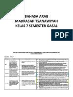 Silabus B. Arab Kelas VII MTS
