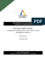 Principes of Volume Calculation