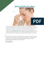 Cómo aliviar el dolor de cabeza.docx