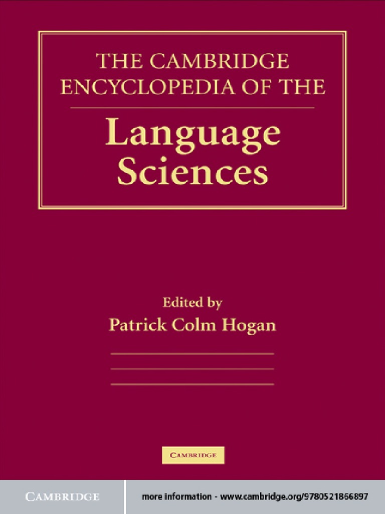 Cambridge Encyclopedia Of Language Sciencespdf