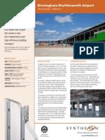 Plastbau Case Study Birm Airport