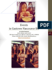 Events in Gastown Vancouver British Columbia