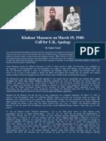 """""""Khaksar Massacre on March 19, 1940"""