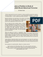 """""""Justification of Partition in Books & Educational Syllabi Breeds Hatred and Terrorism"""" By Nasim Yousaf"""