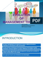 Evolution of Management