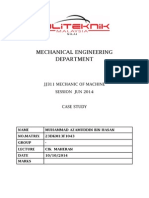 174021467 Case Study Mechanics Machine