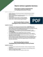 nc read to achieve legislative summary