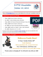 JFB PTO Newsletter 10-15-14